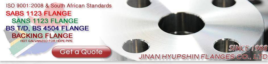 Jinan Hyupshin Flanges Co., Ltd produce forged flanges, carbon steel flanges, standards include ANSI, ASME, DIN, UNI, EN1092-1, JIS, BS 4504, BS T/D, SABS 1123, GOST 12820-80, NS, AS, types include SO, WN, BLIND, THREADED, PLATE, LOOSE