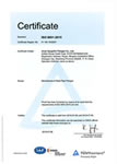 TUV ISO9001 Certificate for flanges